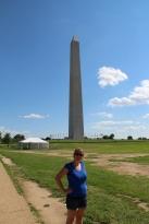 Celine devant le Memorial