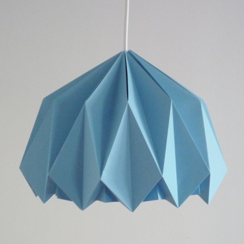 Diy origami sans se plier en 4 canton by me - Lampe en papier origami ...
